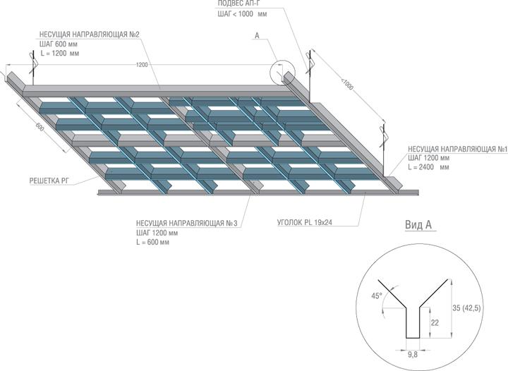 Инструкция по монтажу подвесного потолка армстронг скачать