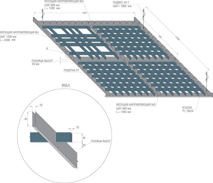 монтаж потолка грильято инструкция - фото 2