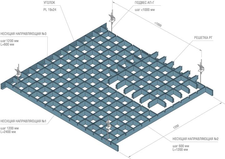 монтаж потолка грильято инструкция img-1