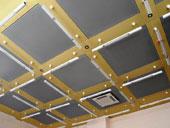 Модульные кассетные потолки соскрытой подвесной системой